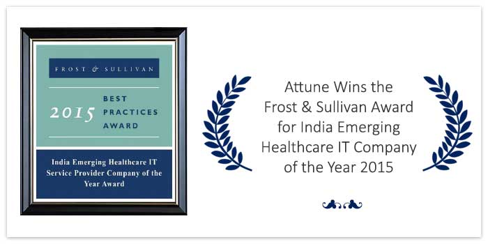 Attune Wins the Frost & Sullivan Award for India Emerging Healthcare IT Company of the Year 2015